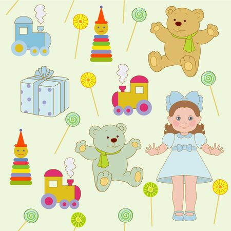 household goods: Toys for girl and boy