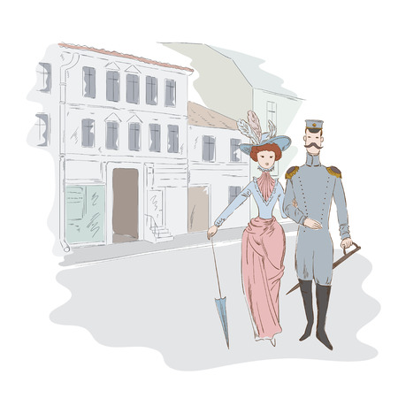 king s: Lady and  officer on the street