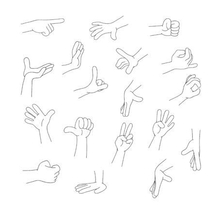 Arm and finger Illustration