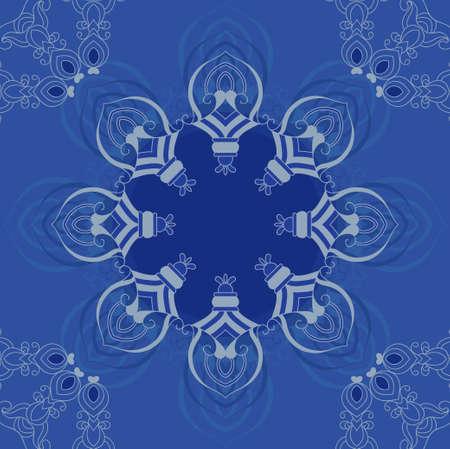 Blue ornamental frame Vector