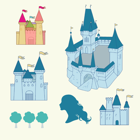 Towers and castle Vector