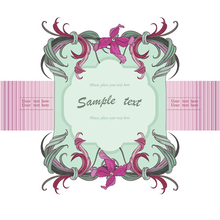 Frame with lilac orchid Illustration
