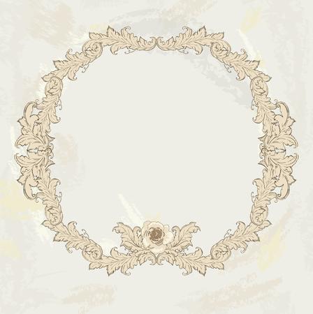 Gold roses on the frame