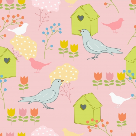 Cheerful floral pattern Vector