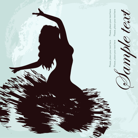 Black silhouette of dancer Stock Vector - 23647430
