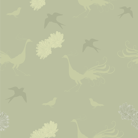 Green pale pattern Vector