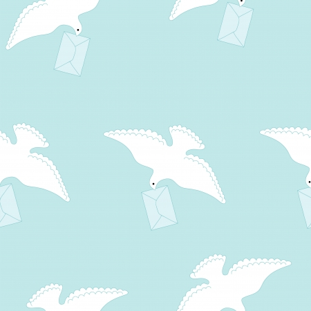 carrier pigeons: White dove and letter