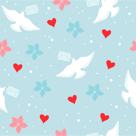 carrier pigeons: Letter and dove