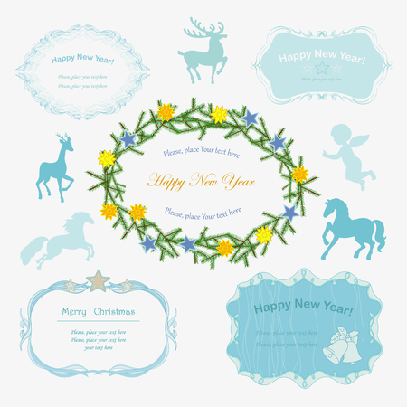 Beautiful frames for Christmas Vector