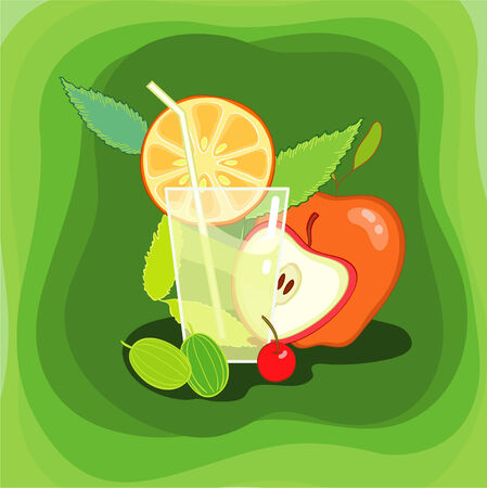 Juice and cocktail Illustration