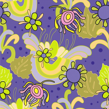 Abstract pattern and floral elements