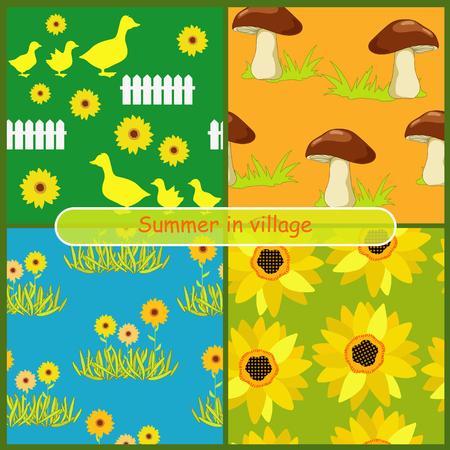 Summer in the village Vector