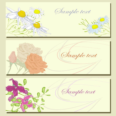 Three summer card Vector