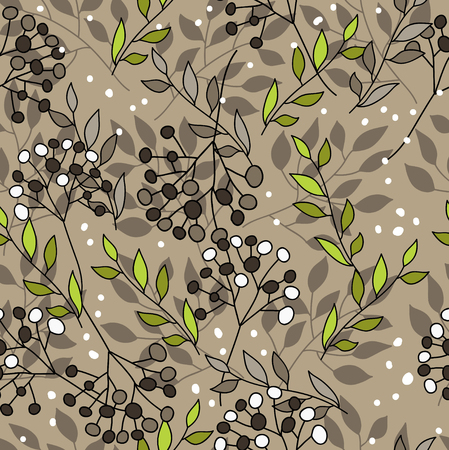 Deep pattern with floral elements