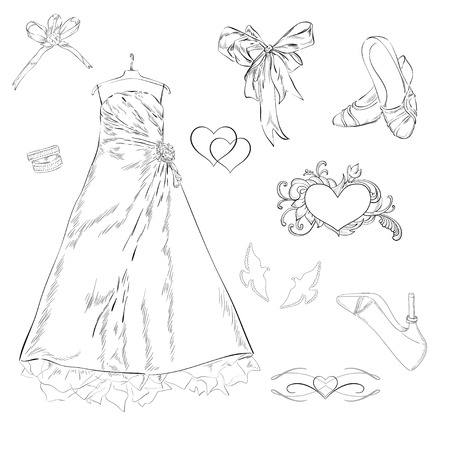 Dress and other things Vector