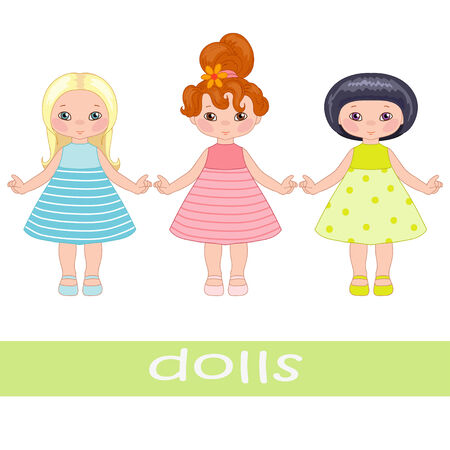 Three sweet dolls Illustration