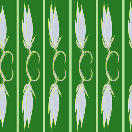 Green background and abstract pattern Illustration
