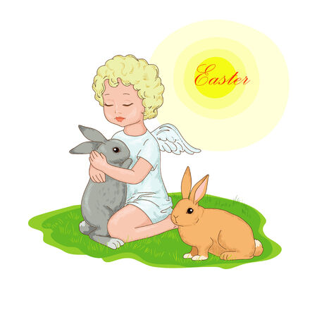 Angel and rabbits