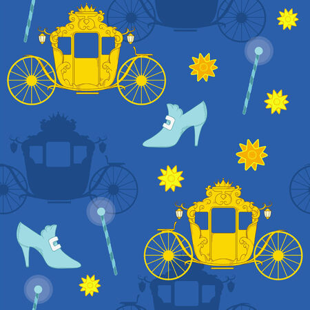 Magic wand and carriage Illustration