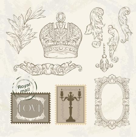 royal mail: Victorian vignette and crown