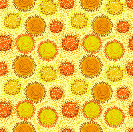 Warm yellow and orange colours Vector