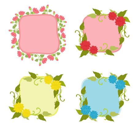 Summer flowers on frame