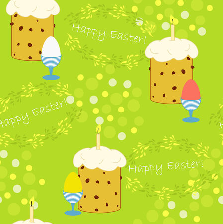 Green bright background for Easter Vector