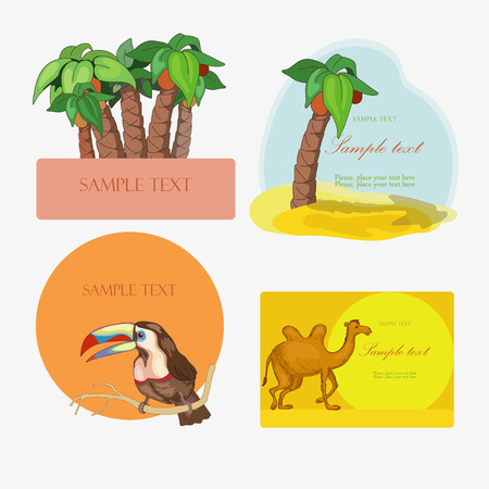Exotic land on the frames Vector