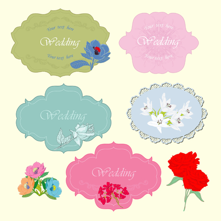 Frames for wedding and for card Vector