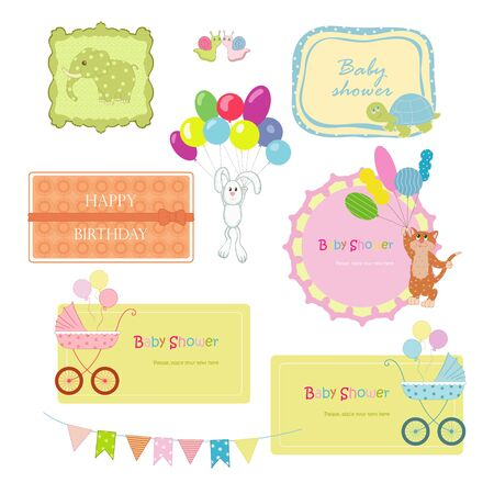 Frames with animals for baby Vector