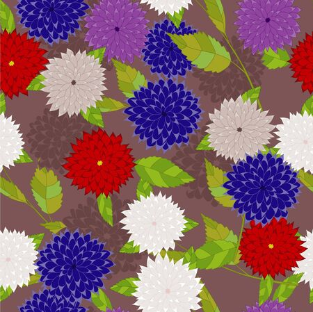 aster: Red and blue aster on brown background