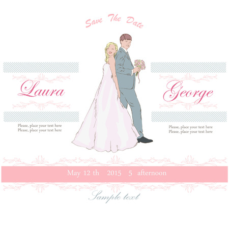 Light card for wedding Vector