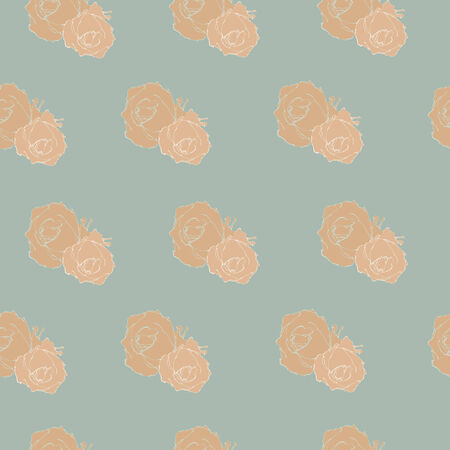 Simple gray pattern with roses