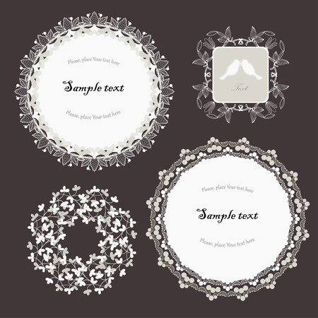 Monochrome frames on deep background Vector