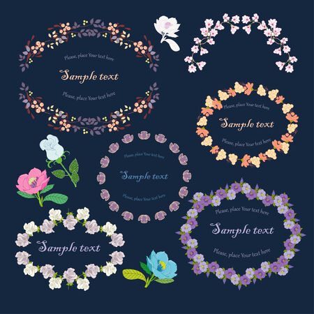 Bright floral frames