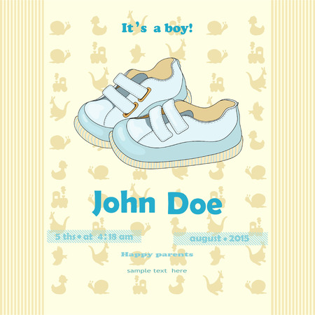 bootees: Baby invitation concept