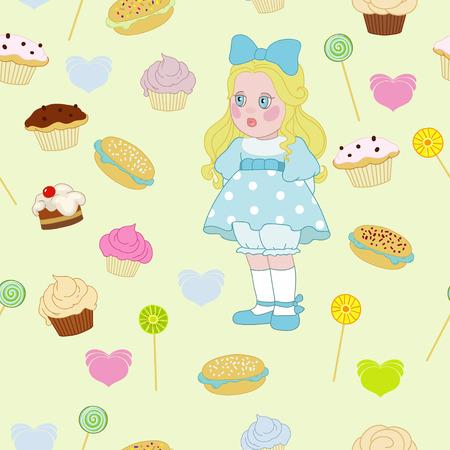 capricious: Little girl Illustration