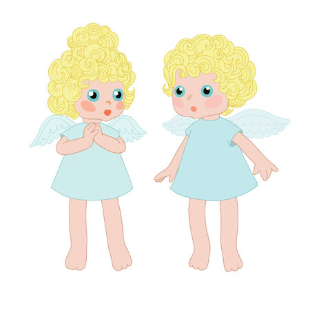 Two little angels Vector