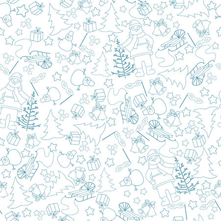Monochrome seamless for New Year Vector