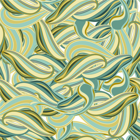 Green and yellow in pattern