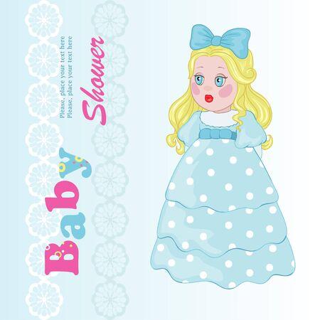 Little princess in blue dress
