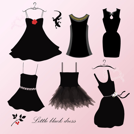 party dress: Little black dress Illustration