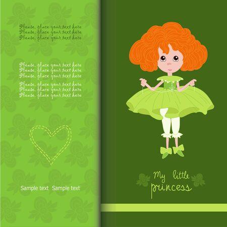 Little  princess on  baby shower Ilustração