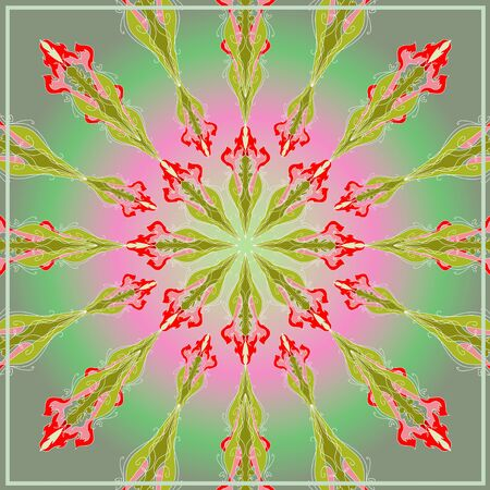 kerchief: Bright pattern for  pillows and for  kerchief