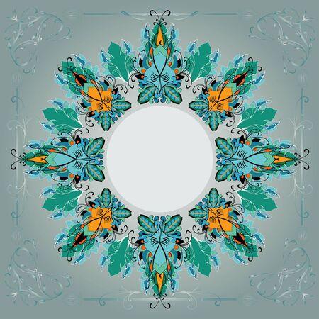 kerchief: Gray and green pattern for  kerchief Illustration