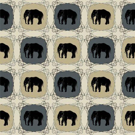 eastern: Elephant on  eastern pattern