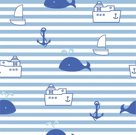 stria: Sea seamless for kid Illustration