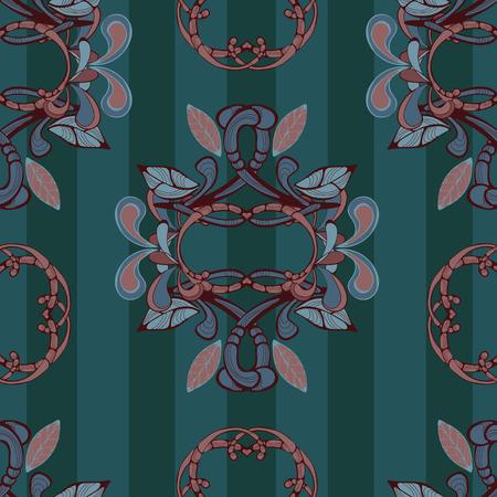 deep: Retro deep pattern for textile Illustration