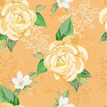 gele rozen: Yellow roses Stock Illustratie