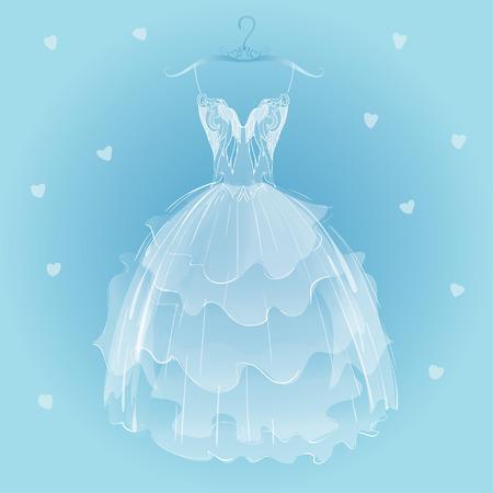 transparent dress: White wedding dress